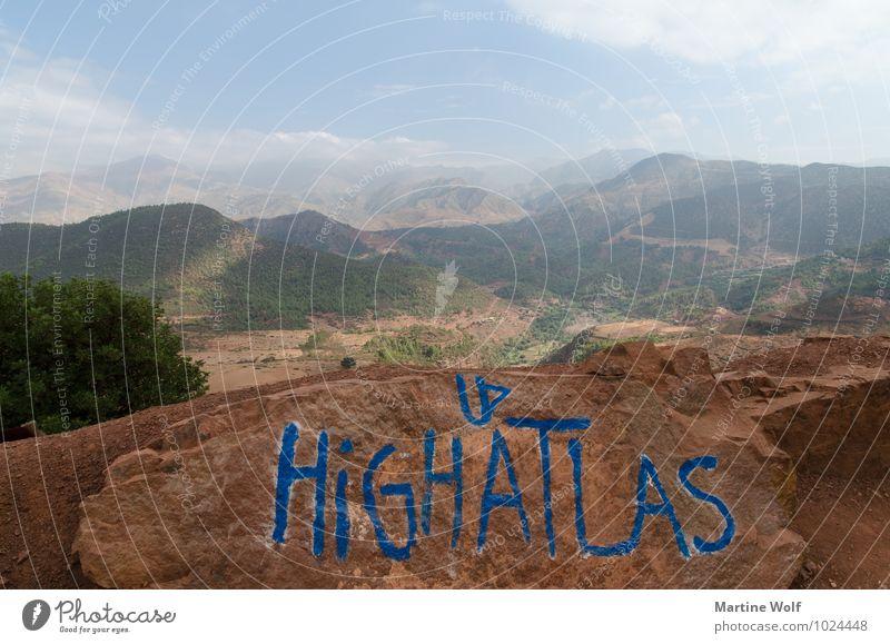 HIGH ATLAS II Nature Landscape Mountain Atlas Morocco Africa Vacation & Travel Far-off places Tizi n'Tichka Pass Colour photo Exterior shot Deserted