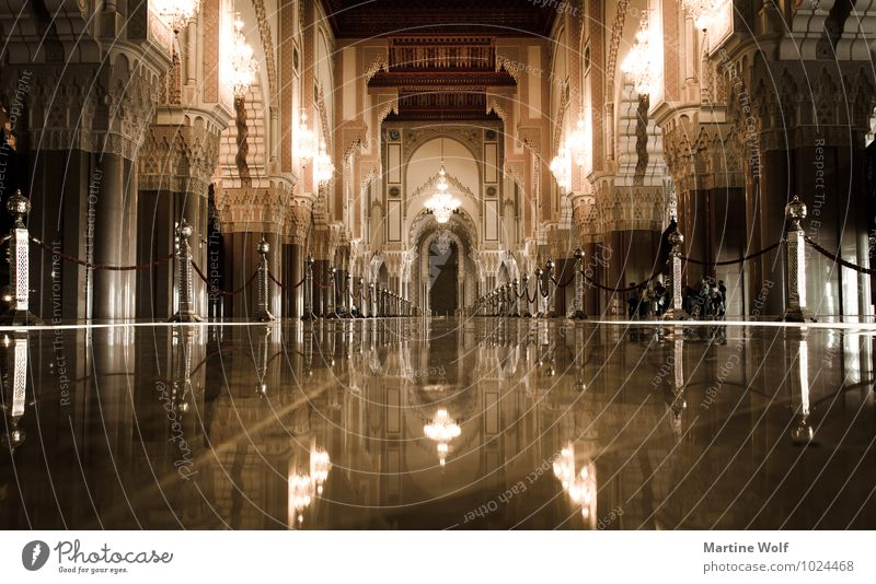 Hassan II from inside Casablanca Morocco Africa Town Port City Manmade structures Building Architecture Mosque Tourist Attraction Religion and faith