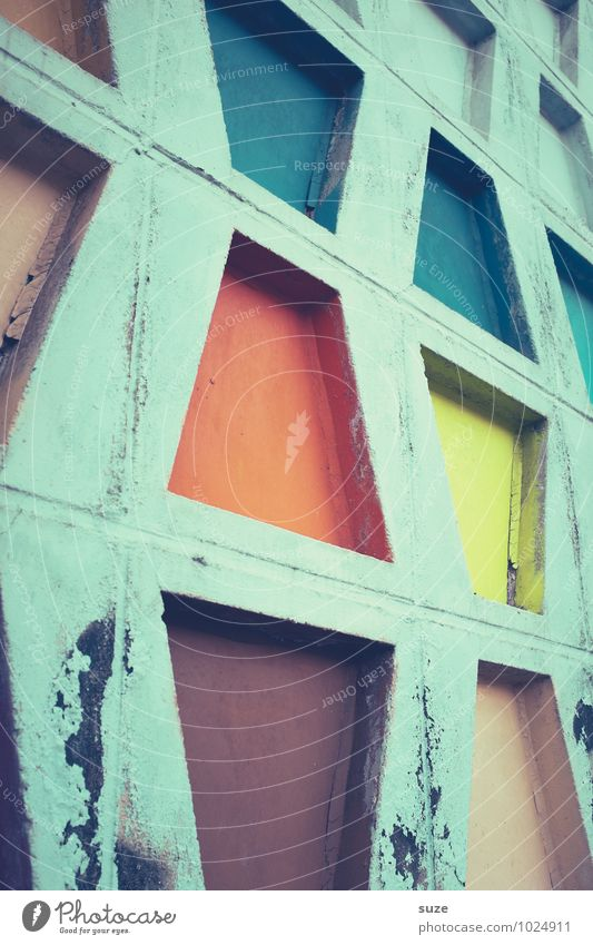 Old Beautiful Colour Wall (building) Architecture Style Building Wall (barrier) Exceptional Art Facade Design Decoration Dirty Arrangement Creativity
