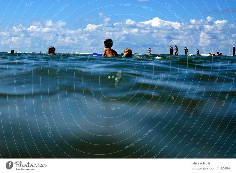 Human being Water Ocean Summer Beach Coast Observe Swimming & Bathing France Shark Atlantic Ocean Low tide Seignosse