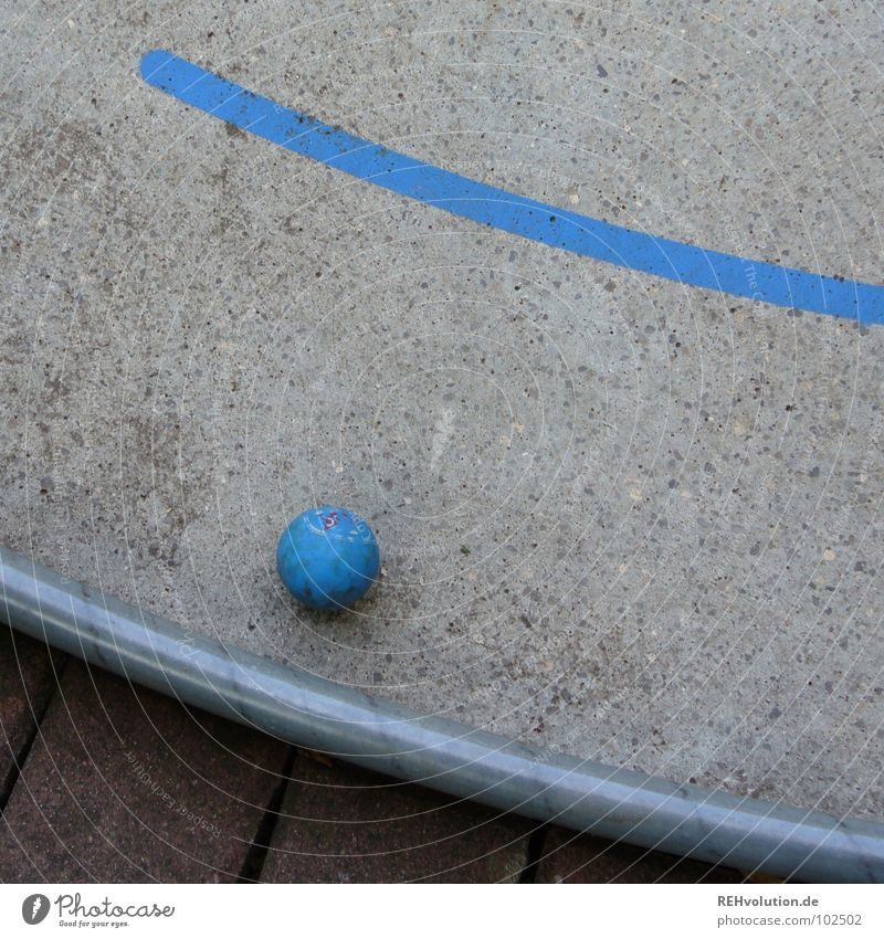 Blue Summer Joy Playing Gray Leisure and hobbies Signs and labeling Concrete Success Corner Round Ball Write Point Golf Hollow