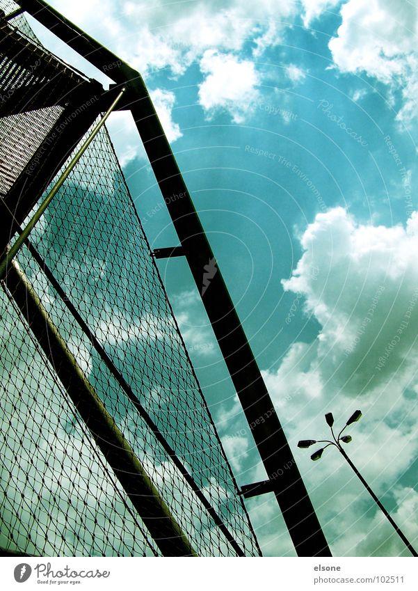 Sky Blue Black Clouds Above Going Tall Safety Stairs Modern Net Dresden Lantern Steel
