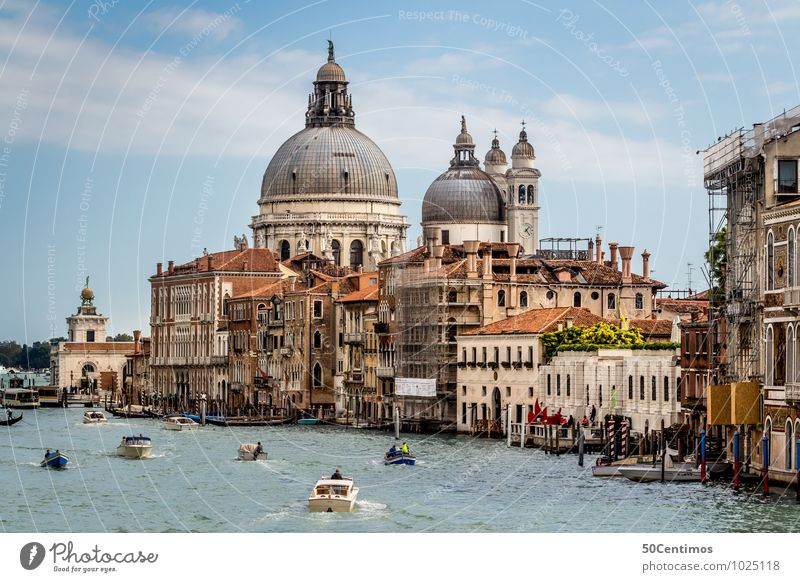Cathedral of Santa Maria della Salute Vacation & Travel Tourism Trip Sightseeing City trip Summer Summer vacation Ocean Human being Sky Beautiful weather Venice