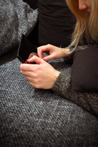 The woman of today Luxury Elegant Nail polish Flat (apartment) Sofa Education Study University & College student Profession Workplace Telecommunications