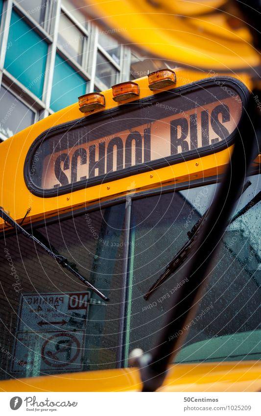 school bus Education Schoolchild Student Study University & College student Public transit Bus School bus Experience Success New York City Colour photo