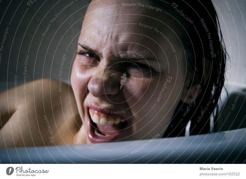 Woman Water Face Swimming & Bathing Bathtub Bathroom Anger Argument Shoulder Wash Aggravation Freckles Self portrait Voyeurism Hatch Tighten