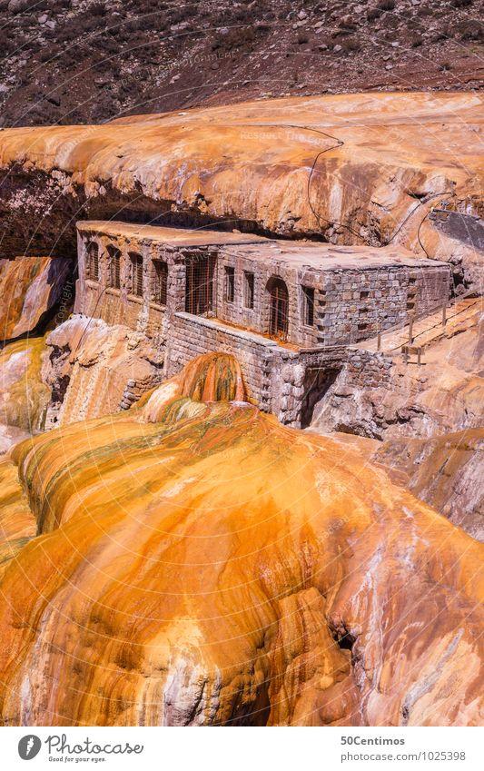 Puente de Incas Vacation & Travel Tourism Trip Adventure Far-off places Sightseeing Mountain Landscape Rock Mendoza province Argentina Castle Ruin Bridge