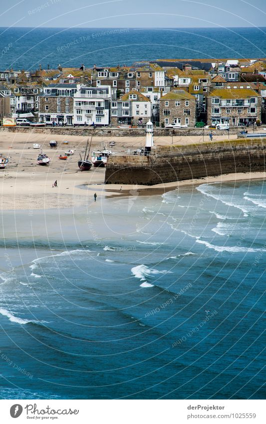 St Ives at low tide Vacation & Travel Tourism Trip Far-off places Freedom Sightseeing City trip Environment Nature Landscape Waves Coast Fishing village