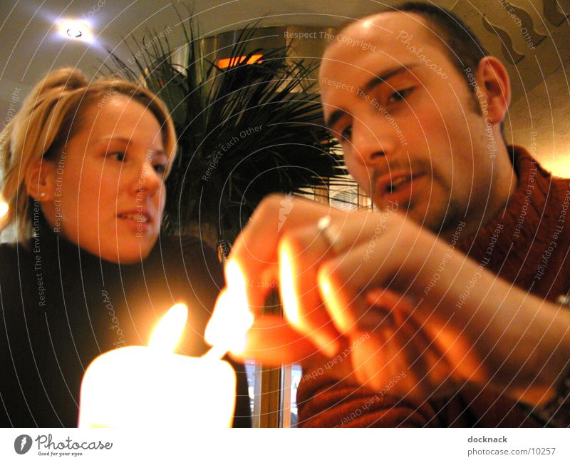 candellight Candle Light Human being Couple Romatic