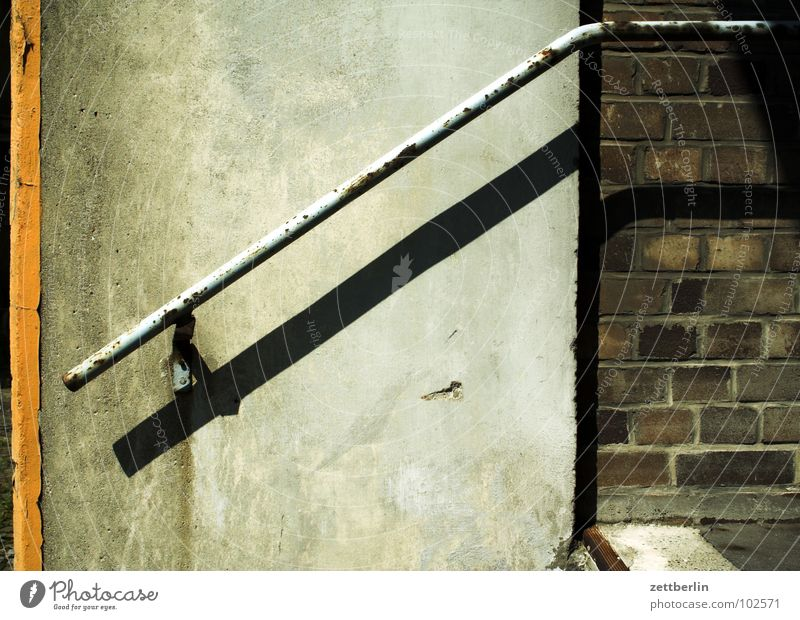 Old Wall (barrier) Industry Stairs Rust Historic Entrance Upward Handrail Career Downward Go up Cellar Way out Descent