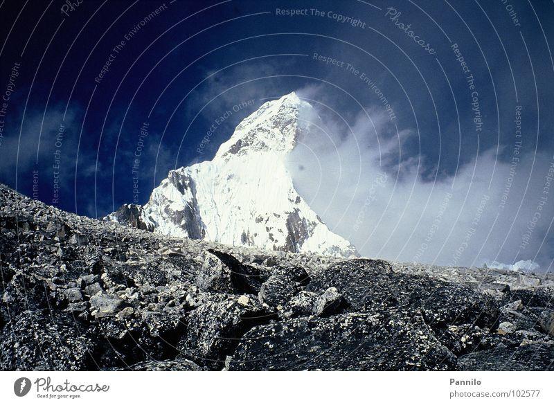 The mountain Clouds Nepal Beautiful Mountain Landscape Minolta Stone
