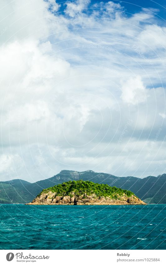 l'île Nature Landscape Water Sky Summer Ocean Pacific Ocean Island Whitsunday Islands Australia + Oceania Natural Adventure Loneliness Relaxation