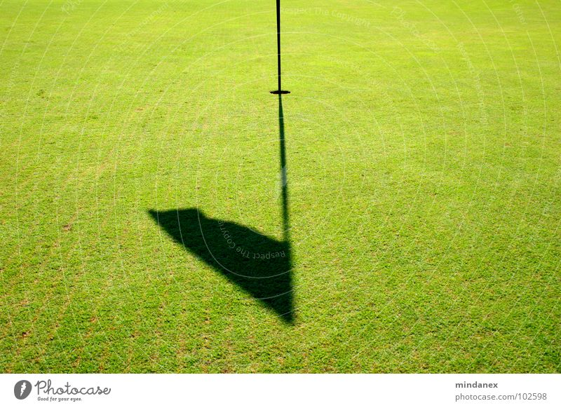 Putt Putt Putt Putt Putt... Green Flag Grass Playing Golf shadow flag Golf course