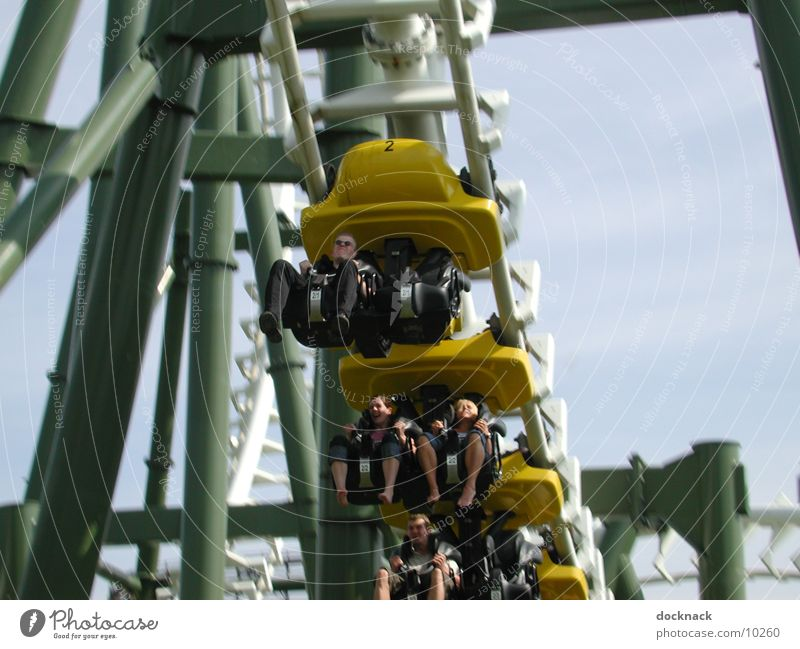 no limit Amusement Park Roller coaster Speed Electrical equipment Technology Human being Heide Park