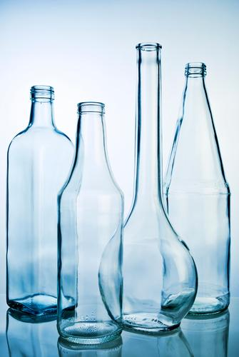 Blue Style Design Glass Esthetic Clean Industry Pure Trash Transparent Trade Sustainability Bottle Packaging Containers and vessels