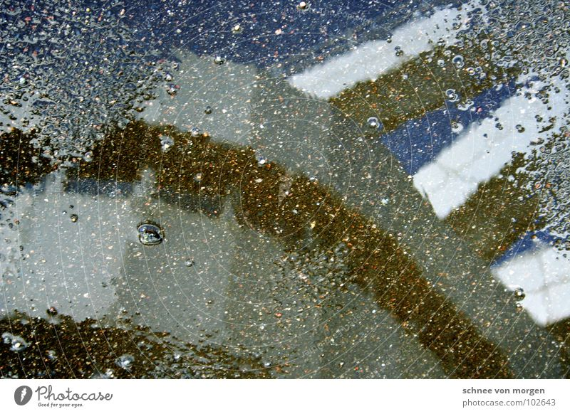 by-product Silver Puddle Concrete Rain Summer Sky Round Geometry Window Air Reflection Water icc Berlin Blue ashalt sneezy training