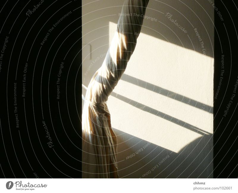 White Sun Black Wall (building) Window Bright Stripe Living room Drape Curtain Coil Bound Screening