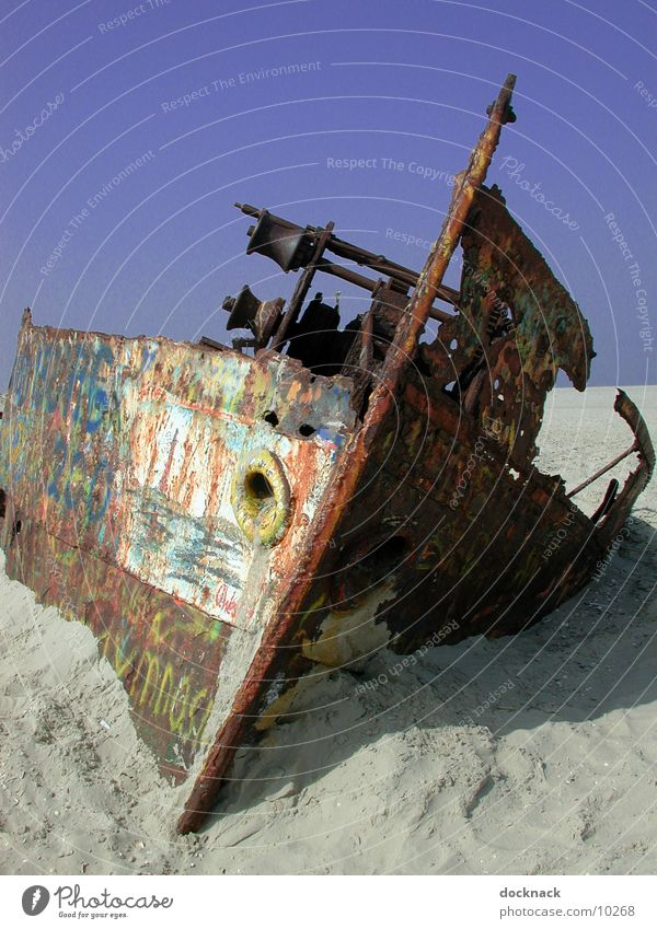 Old Watercraft Things Rust Wreck Norderney