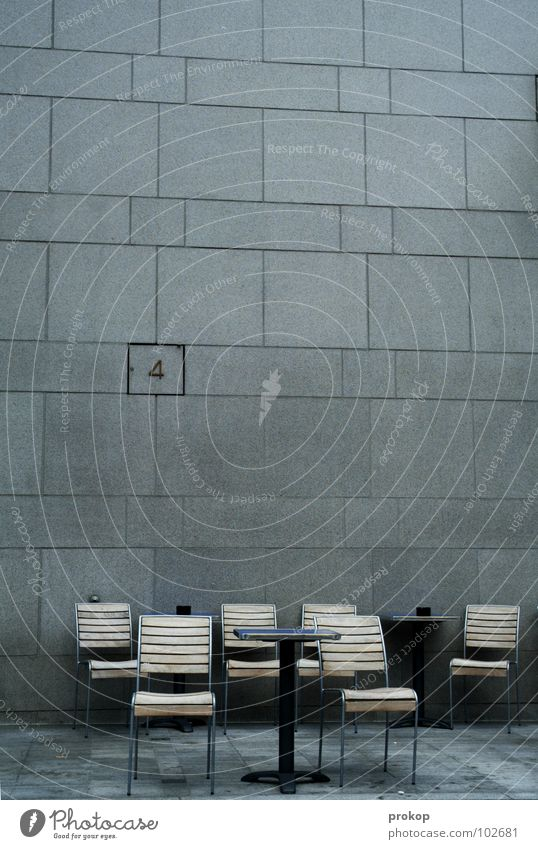 APA meeting Chair Wall (building) 4 Digits and numbers Waiting area Meeting Empty Seating Design Chic Beautiful Geometry Table Café Wall (barrier) Square