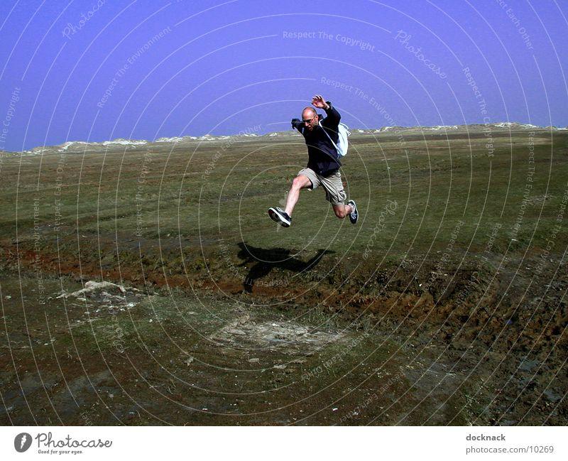Human being Man Jump Dig