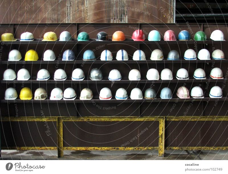 Assembly of helmets Helmet Work and employment Steel factory Mining Workwear Shelves Construction worker Construction site Headwear