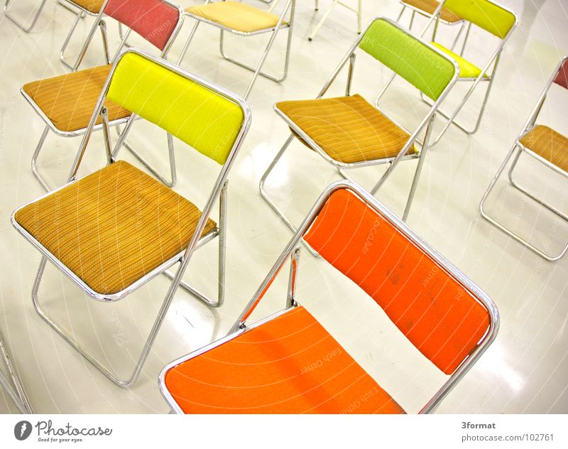 Loneliness Colour School Bright Room Wait Glittering Design Sit Empty Academic studies Places Chair Floor covering Things Interior design