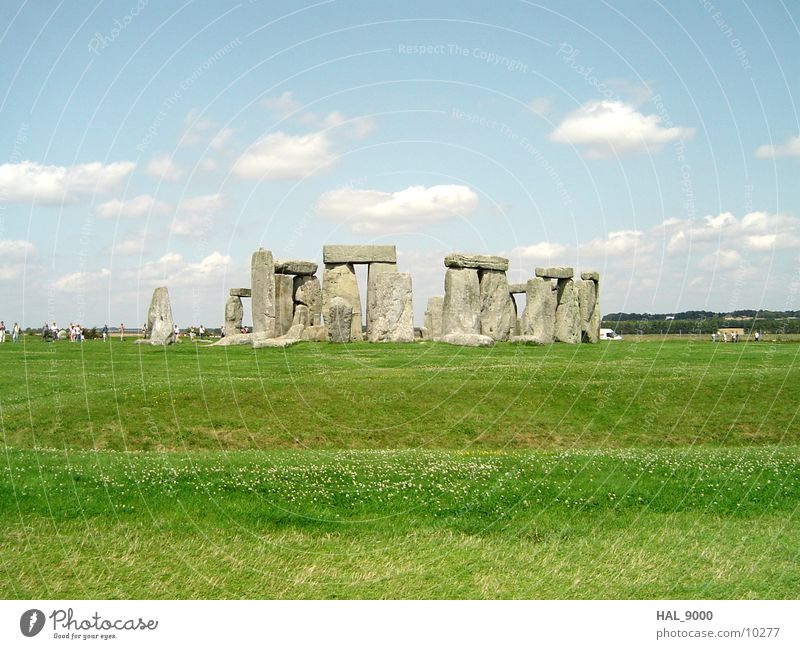 Mystique Stonehenge Clouds Grass Meadow England Historic