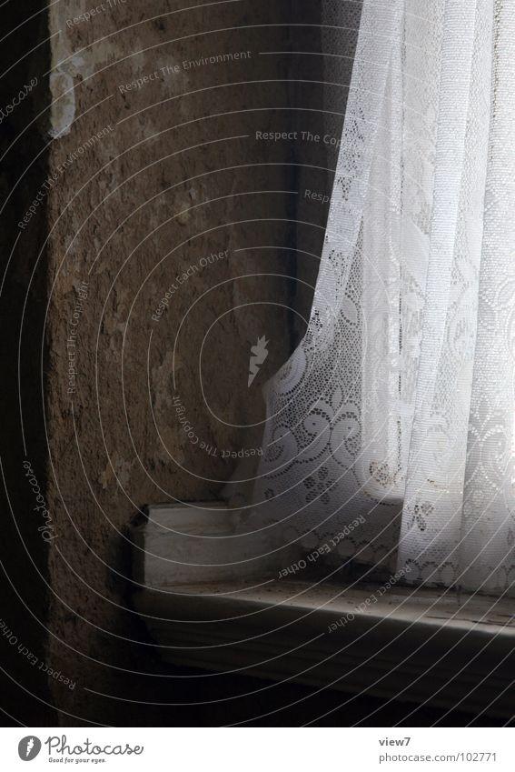 gem Small Forget Window Wall (building) Cornice Window board Curtain Drape Light Dusty Harmful Retro Oriel East Zone Redevelop Plaster Detail Old Loneliness