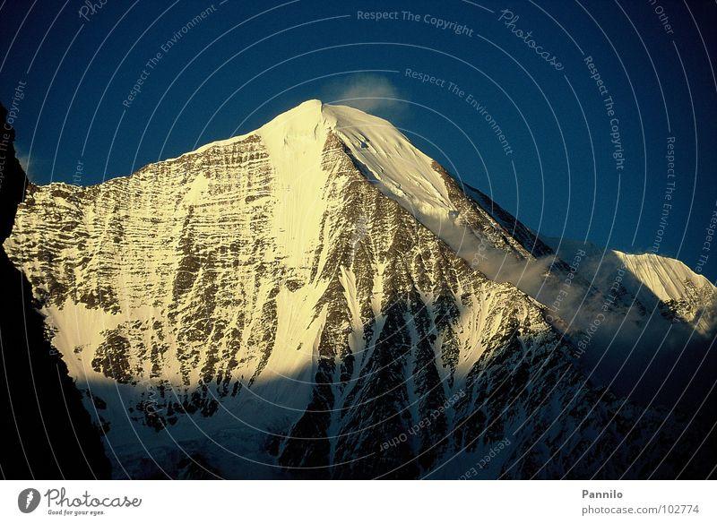 The day is coming Alaska Calm Beautiful Light Mountain shade Snow