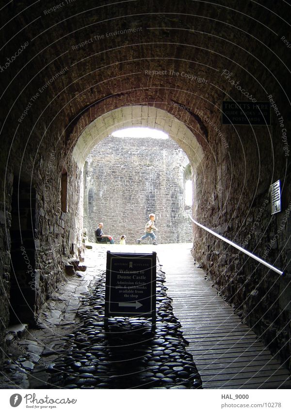 main entrance Passage Light Tunnel Entrance Scotland Architecture Knight of the coconut Castle