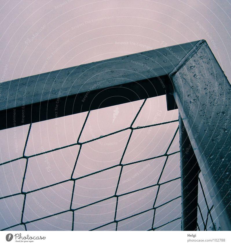 Sky Blue Joy Sports Playing Gray Rain Soccer Metal Wet Drops of water Success Corner Net Leisure and hobbies Gate
