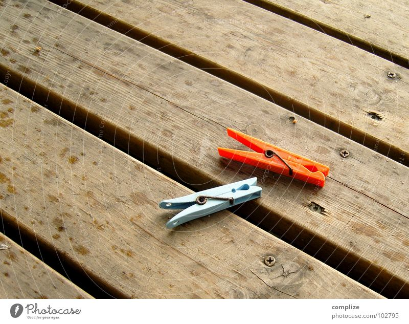 hang out fast! Laundry Clothes peg Wood strip Clothesline Rope Rain Drops of water Summer Wood grain Texture of wood Hallway Wooden floor Diagonal 2 Red Brown