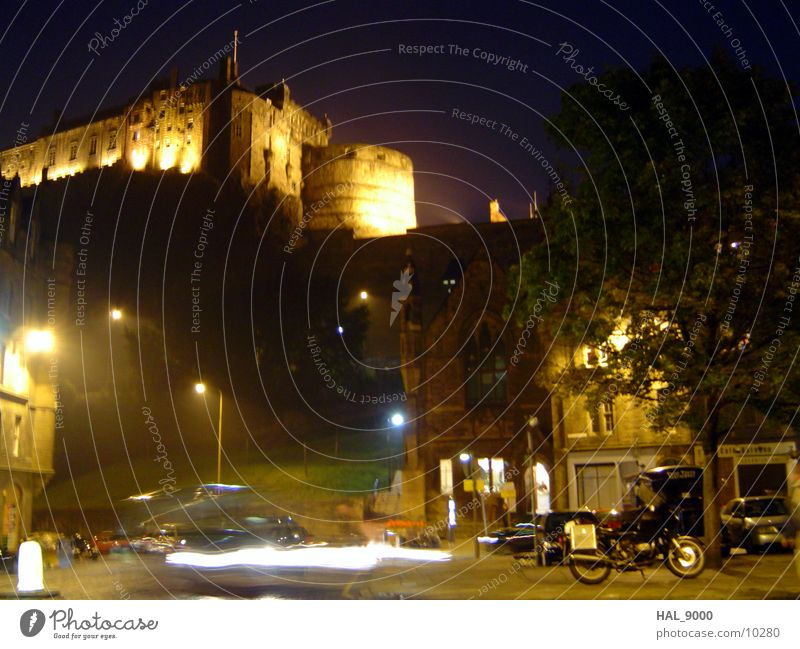 Edinburgh_2 Night Long exposure Scotland Light Historic Castle