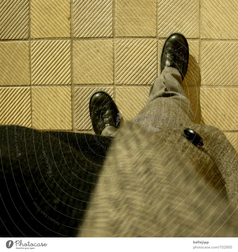 Gray Legs Work and employment Footwear Clothing Perspective Stand Cool (slang) Floor covering Cloth Jacket Tile Pants Store premises Suit