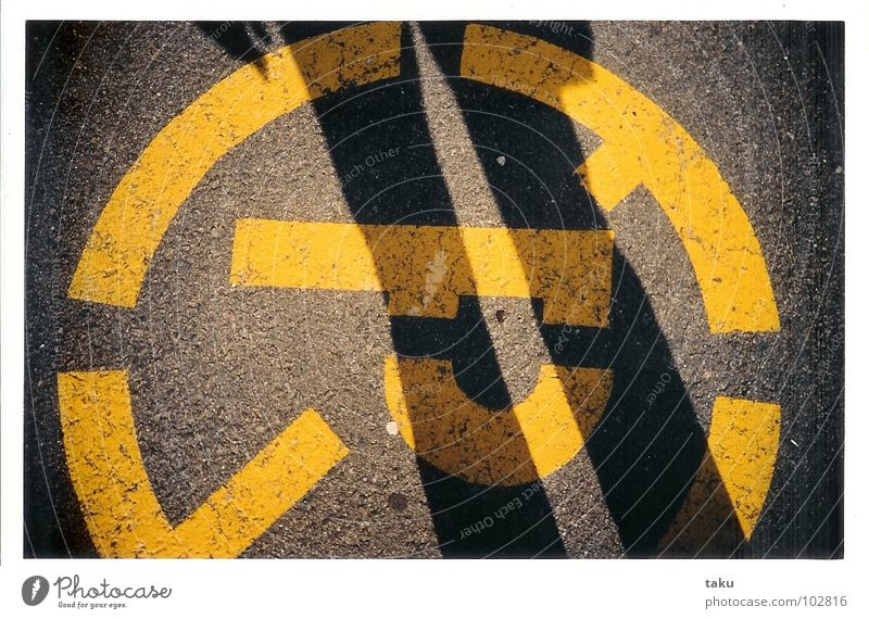 Sun Black Yellow Street Legs Concrete Circle Parking Montreal