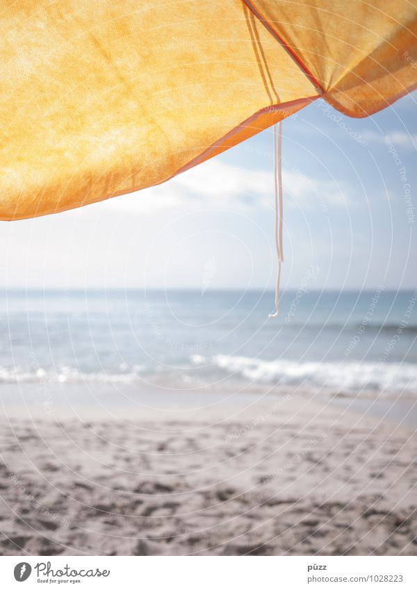 Sky Vacation & Travel Blue Water Summer Sun Relaxation Ocean Beach Yellow Warmth Coast Freedom Sand Waves Tourism