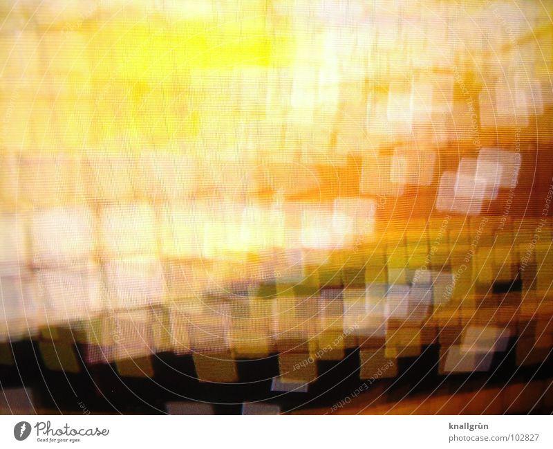 square dance Square Yellow Brown Ochre Dark White Glittering Light Colour Orange Dance Movement Bright overlap intersect colour gradation