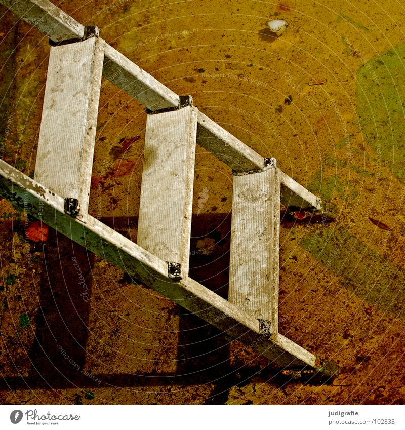 Old Colour Above 2 3 Tall Stairs Swimming pool Transience Derelict Upward Ladder Downward Go up Symbols and metaphors