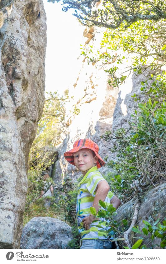 344 Vacation & Travel Trip Adventure Summer Sun Hiking Boy (child) Infancy Life 1 Human being 3 - 8 years Child Nature Landscape Plant Beautiful weather Rock