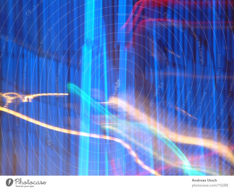 Style? Light Night Photographic technology Blue Line Colour Reaction