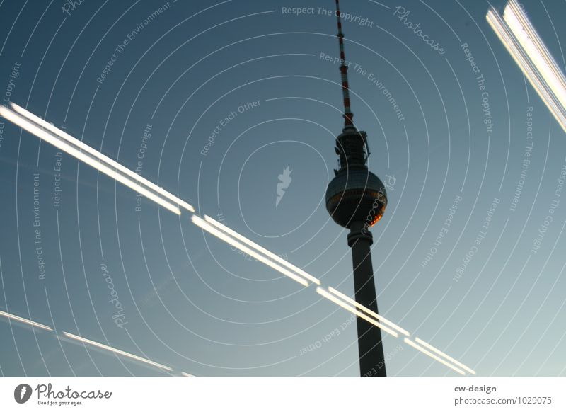 tilted position Cloudless sky Beautiful weather Berlin Downtown Berlin Town Capital city Skyline Tower Manmade structures Building Architecture Antenna