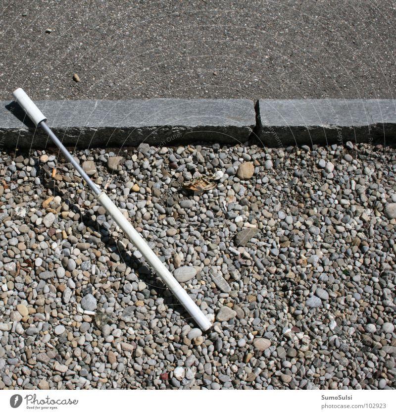 Lost help ... Bicycle pump Air pump Tool Broken Doomed Helpless Tar Roadside Leisure and hobbies Fear Panic Air pressure Hollow Loneliness Floor covering Street
