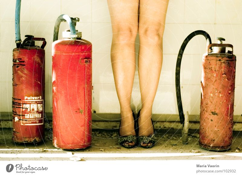 Pin Up Baby Extinguisher Hot Retro Erase Fire prevention Safety Hose Woman Dangerous Beautiful Legs Fire department High heels extinguishing foam accident cover