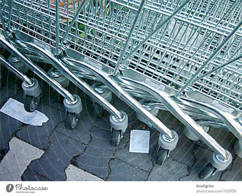 On demand Shopping Trolley Gray Cart Receipt Services Transport Silver telescoped Wait call Wheel Metal Consumption