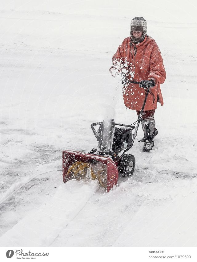 Human being Winter Adults Snow Work and employment Snowfall Elements Cleaning Storm Effort Bad weather Winter mood Shovel Winter maintenance program