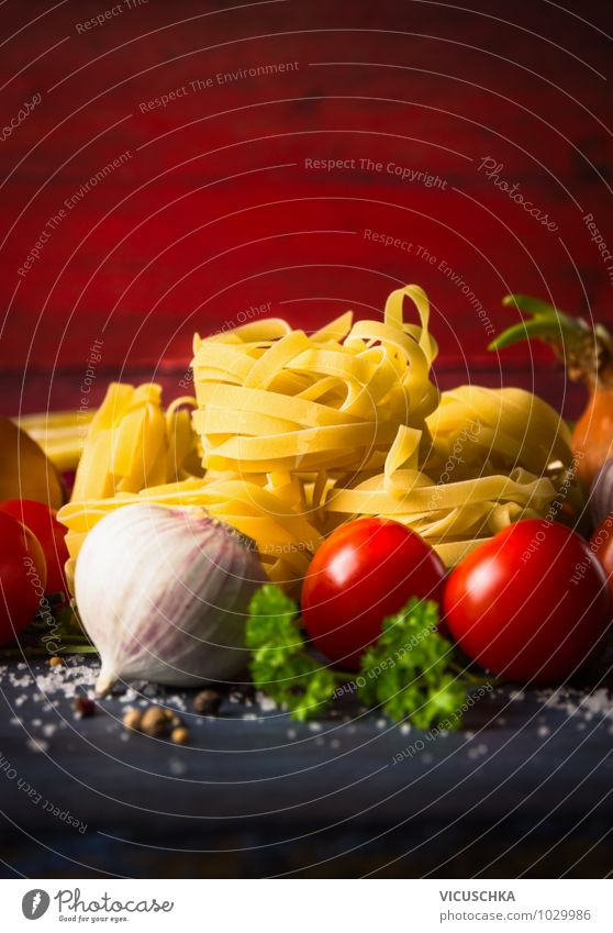 Noodles with vegetables, food background Food Vegetable Dough Baked goods Herbs and spices Nutrition Lunch Organic produce Vegetarian diet Diet Italian Food