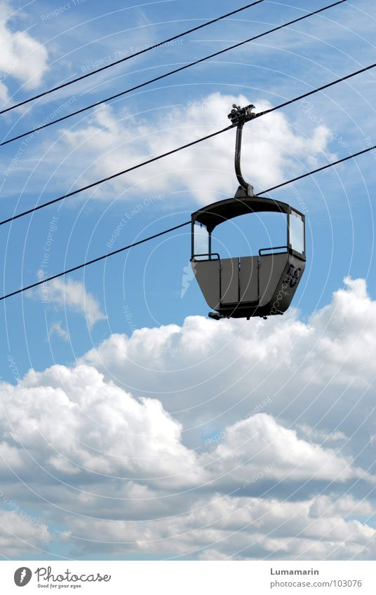 Line 56: Skywards Transport Means of transport Passenger traffic Gondola Cable car Wire cable Places Empty Clouds Alternative Possible Expressway exit Infinity