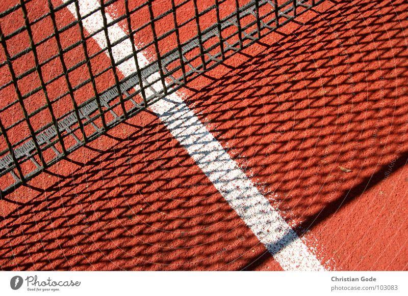line management Net Line Shadow Red White Tennis Tartan Ball Sports Tennis court Sporting Complex Playing Service Summer Player Adversary Jump Success