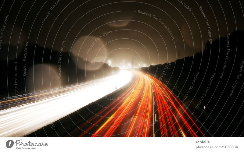 highway at night Advancement Future Traffic infrastructure Rush hour Motoring Highway Discover Driving Speed Town Yellow Orange Red Enthusiasm Success Might