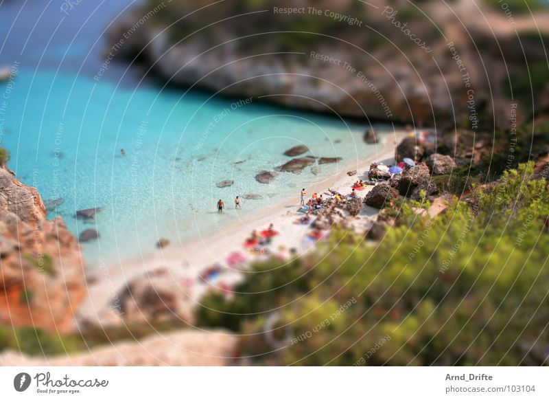 Water Summer Beach Landscape Coast Small Rock Swimming & Bathing Spain Surrealism Miniature Tilt-Shift Andalucia